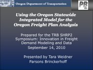 Using the Oregon Statewide Integrated Model for the Oregon Freight ...