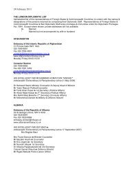 London Diplomatic List