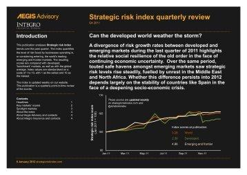 Strategic risk index quarterly review Q4 2011
