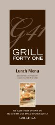 Grill 41 Lunch Menu - Lord Elgin Hotel