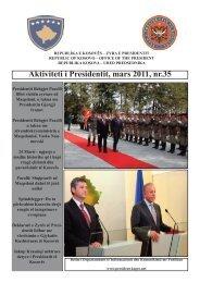 Aktivitetet e Presidentit, nr 35 - Kosovo President
