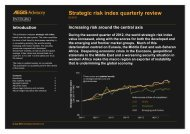Strategic risk index quarterly review