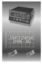 User's manual DH96 - BG - Microtherm