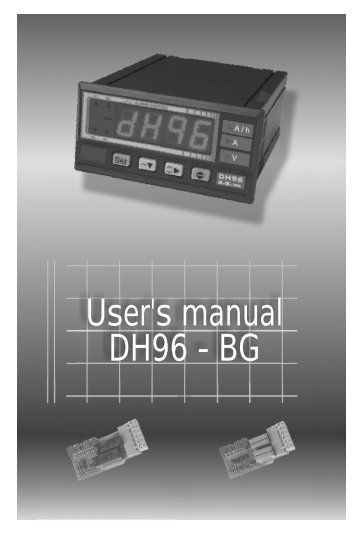 User's manual DH96 - BG - Microtherm