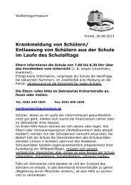 Krankmeldung von Schülern - Weißeritzgymnasium