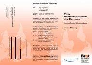 Flyer Internationale Kulturwerkstatt - Venro