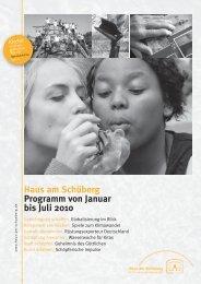 Haus am Schüberg Programm von Januar bis Juli 2010