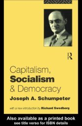Joseph A.Schumpeter - The EE-T Project Portal
