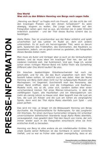 Vorwort Alpha Males von Dr. Boris von Brauchitsch (deutsch)
