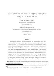 Digital goods and the effects of copying: an empirical study ... - Fokus