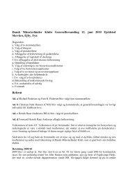 Referat af generalforsamling 2010 - Dansk Münsterländer Klub