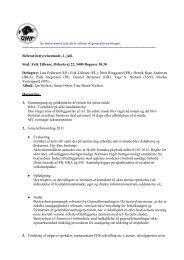 Referat af bestyrelsesmøde 01.07.2011 - Dansk Münsterländer Klub