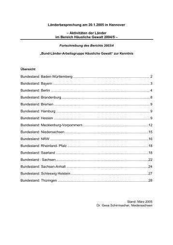 Bericht Januar 2005 - Psychologische Beratungsstelle