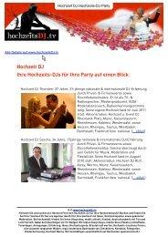 Hochzeit DJ Ihre Hochzeits-DJs für Ihre Party auf ... - HochzeitsDJ.tv