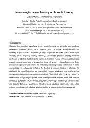Immunologiczne mechanizmy w chorobie trzewnej - Celiakia