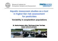 Aquatic mesocosm studies as a tool in higher-tier risk assessment ...