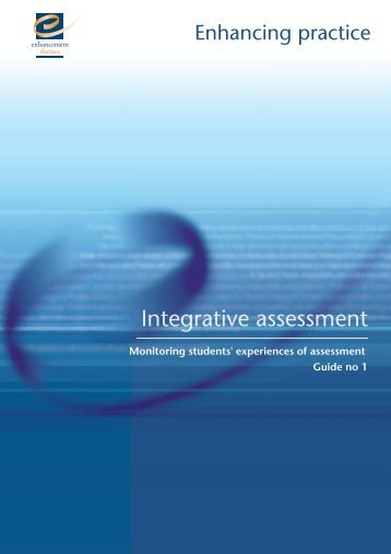 Monitoring Students' Experiences of Assessment - the Enhancement ...