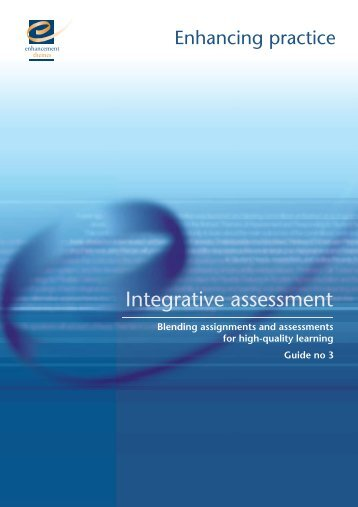 Blending assignments and assessments for high-quality learning