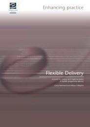 A model for analysis and implementation of flexible programme ...