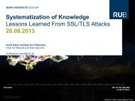 Systematization of Knowledge Lessons Learned From SSL/TLS ...