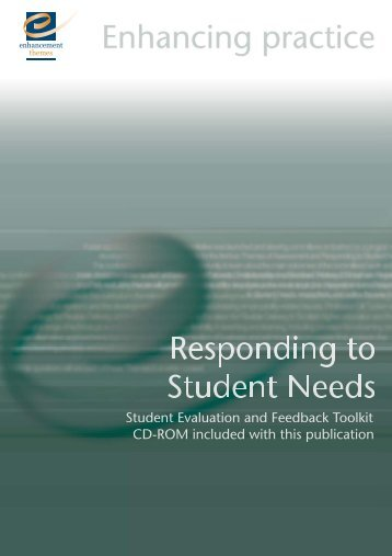 Responding to Student Needs - the Enhancement Themes website