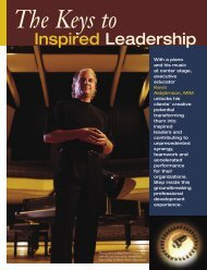 Keys to Inspired Leadership Brochure - Inspire Imagine Innovate