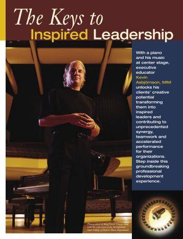 Keys to Inspired Leadership Brochure - Inspire Imagine Innovate