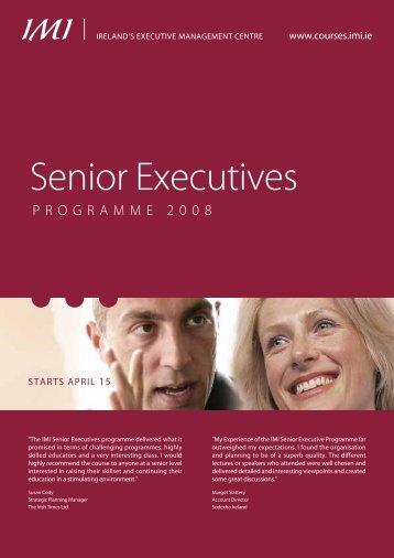 Senior Executives - Inspire! Imagine! Innovate!