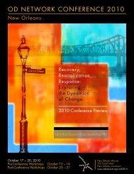 OD NETWORK CONFERENCE 2010 - Inspire! Imagine! Innovate!