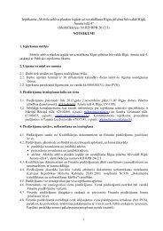 Iepirkuma noteikumi - Rīgas pilsētas būvvalde