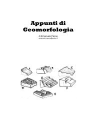 Appunti di Geomorfologia - Geologia 2000 - Anisn