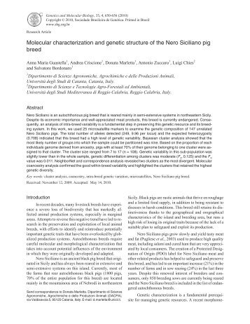 Molecular characterization and genetic structure of the ... - SciELO