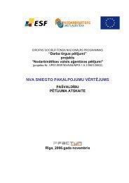 pašvaldību pētījuma atskaite - Nodarbinātības Valsts Aģentūra