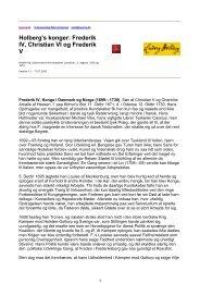 Holberg's konger: Frederik IV, Christian VI og Frederik V