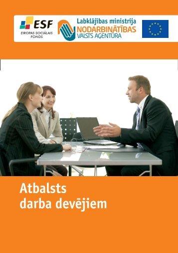 Atbalsts darba devéjiem - Nodarbinātības Valsts Aģentūra