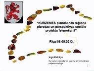 Kurzemes plānošanas reģiona pieredze - Nodarbinātības Valsts ...