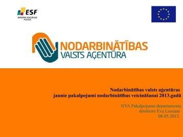 NVA jaunie pakalpojumi - Nodarbinātības Valsts Aģentūra