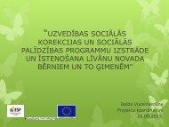uzvedības sociālās korekcijas un sociālās palīdzības programmu ...