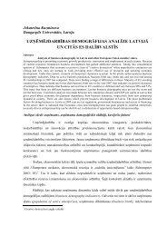 uzņēmējdarbības demogrāfijas analīze latvijā un citās es dalībvalstīs