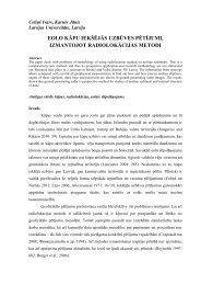 eolo kāpu iekšējās uzbūves pētījumi, izmantojot radiolokācijas metodi