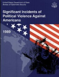Significant Incidents of Political Violence Against Americans 1989