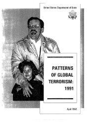 Patterns of International Terrorism in 1991 - Higgins ...