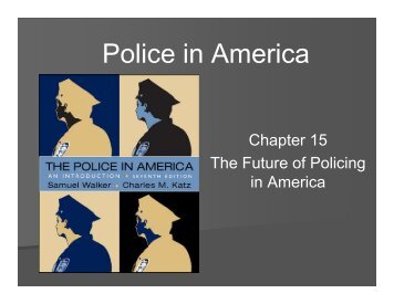 Police in America - WSU Vancouver Directory