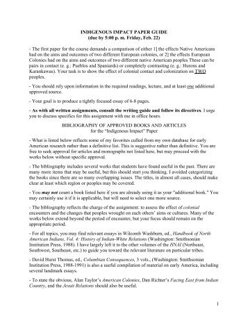 Indigenous Impact - WSU Vancouver Directory
