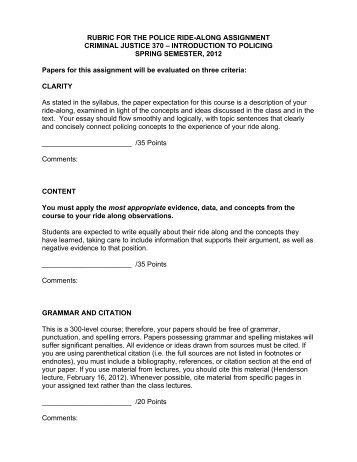 Crmj 370 Paper Rubric 2012 - WSU Vancouver Directory