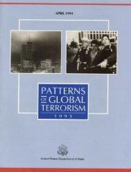 Patterns of International Terrorism in 1993 - Higgins ...