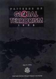 Patterns of International Terrorism in 1995 - Higgins ...