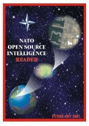 OPEN SOURCE INTELLIGENCE - The Challenge for NATO - OSS.net