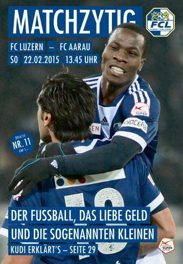 FC LUZERN Matchzytig N°11 14/15 (RSL 21)