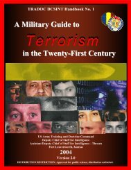 Military Guide to Terrorism in the 21st Century - Higgins ...